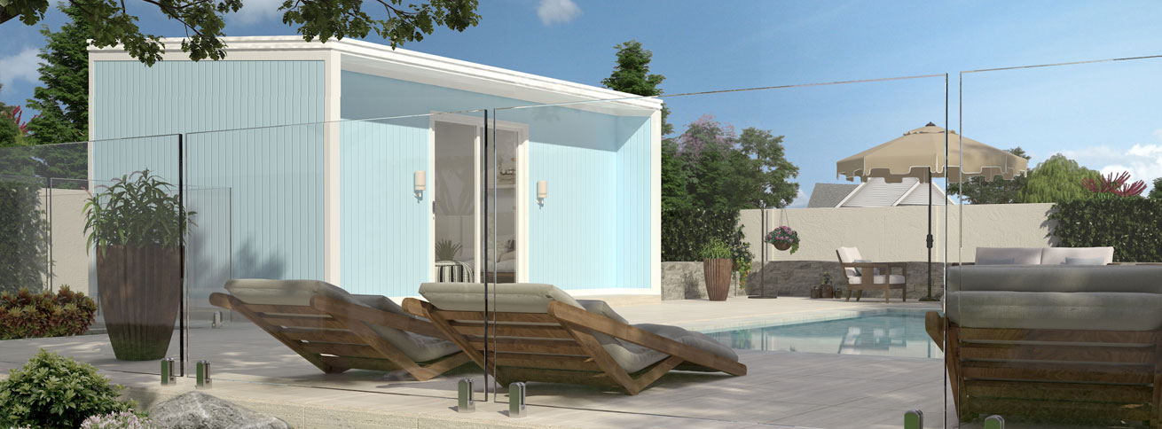 The Cabana is a single room modular flat pack kit home