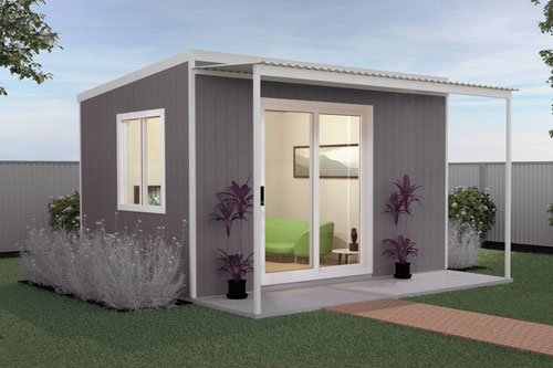 At QUICKBUILT home systems we listen to our clients needs, so we have designed a few kit homes to suit a broad range of people's requirements. If you are looking for that extra bit of space, then THE EYRE outdoor room could be your answer. It could be used for guest accommodation, an artists studio, a teenagers retreat, a home office or gym.