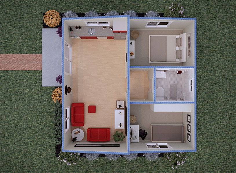 Floorplan view of kit home