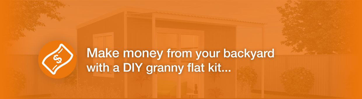 Make Money from your backyard with an easy to build DIY granny flat kit
