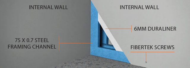 Quickbuilt Internal Wall Join Detail