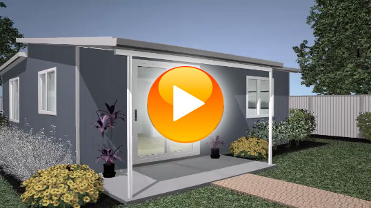 Watch this quick animated construction of the beautiful Kimberely Quick Built Home. Great quality 2 Bedroom design with easy assembly and placement.
